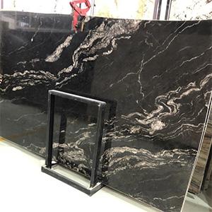 On Sale Brazilian Black Cosmic Granite Big Slabs