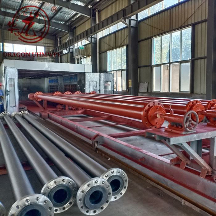 Slurry pipeline mining pe lined abrasion resistant hdpe carbon steel pipe