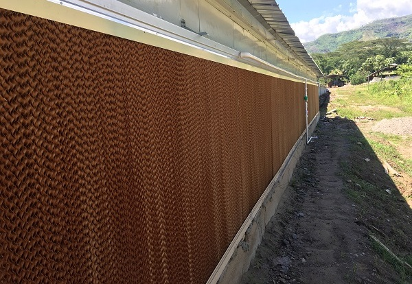 Wet curtain Cooling pad